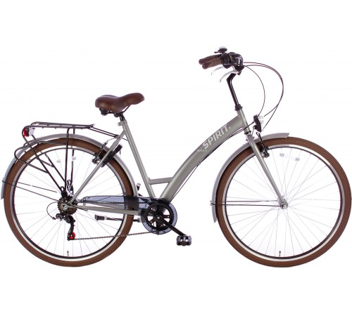 Spirit Avanti 6-Speed Damesfiets Mat-Grijs