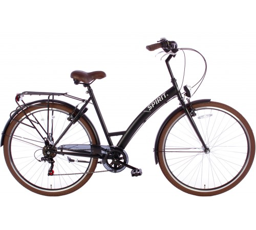 Spirit Avanti 6-Speed Damesfiets Mat-Zwart