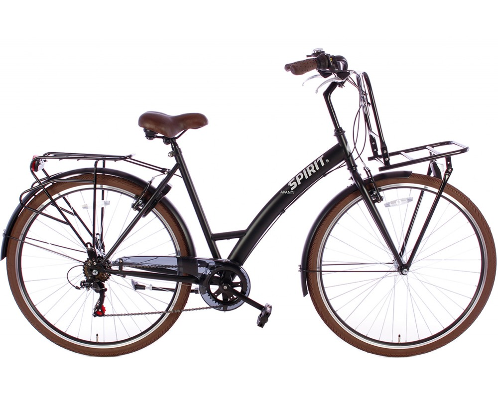 Spirit Avanti Plus 6-Speed Damesfiets Mat-Zwart