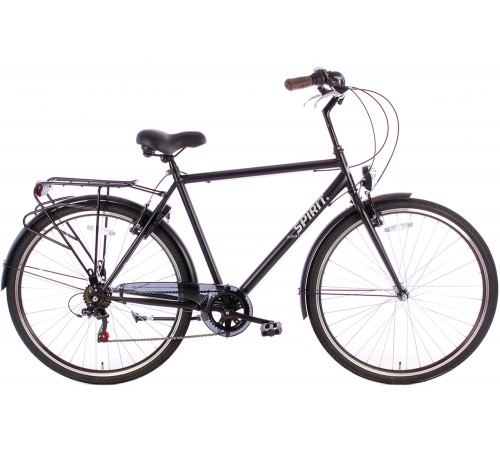 Spirit Avanti 6-Speed Herenfiets Mat-Zwart