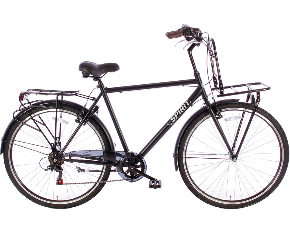 Spirit Avanti Plus 6-Speed Herenfiets Mat-Zwart
