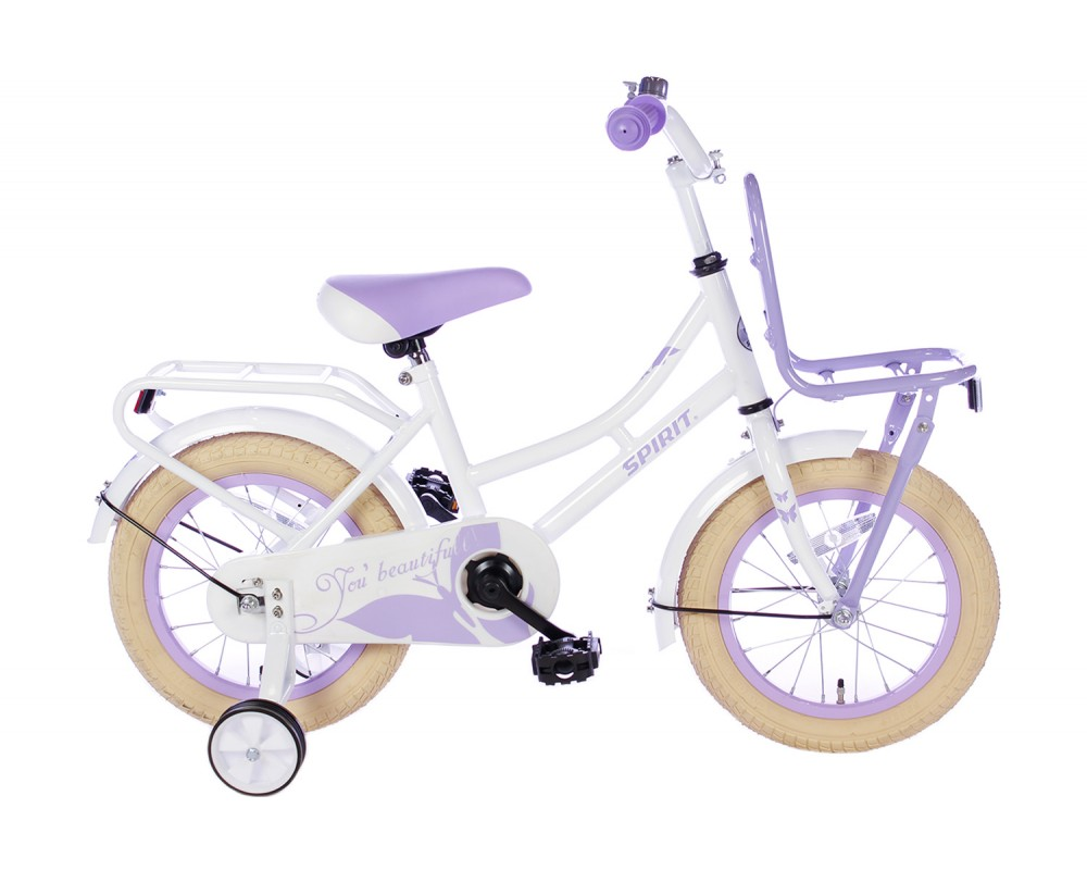 Spirit Omafiets Wit-Paars 14 inch