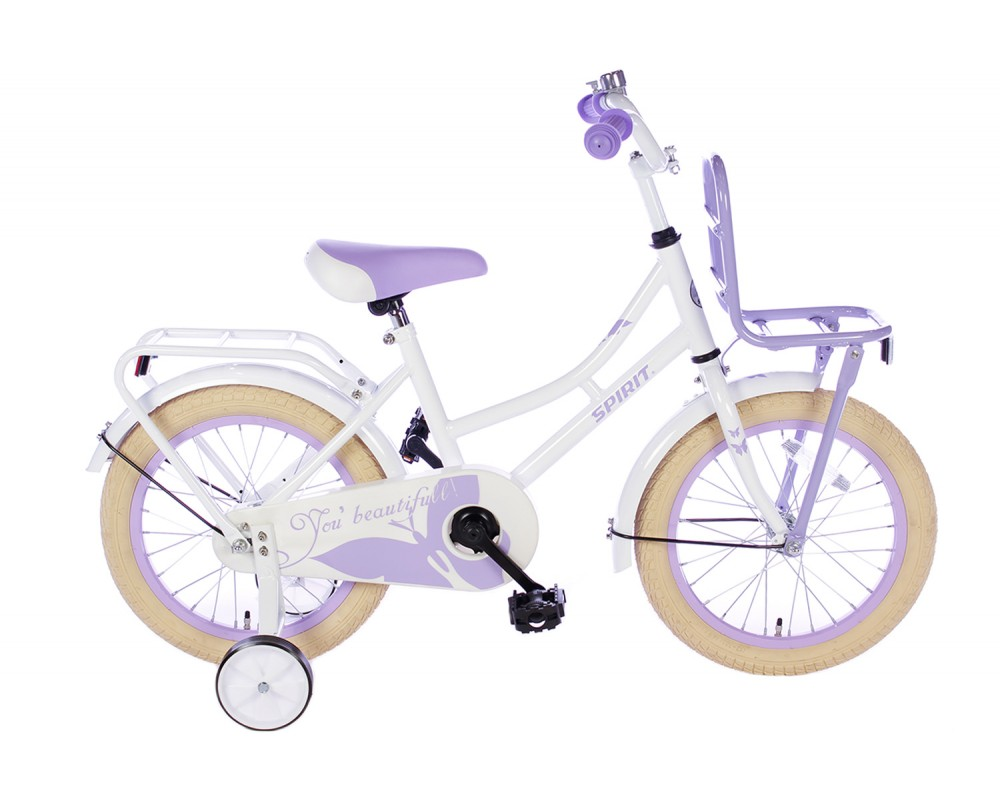 Spirit Omafiets Wit-Paars 16 inch