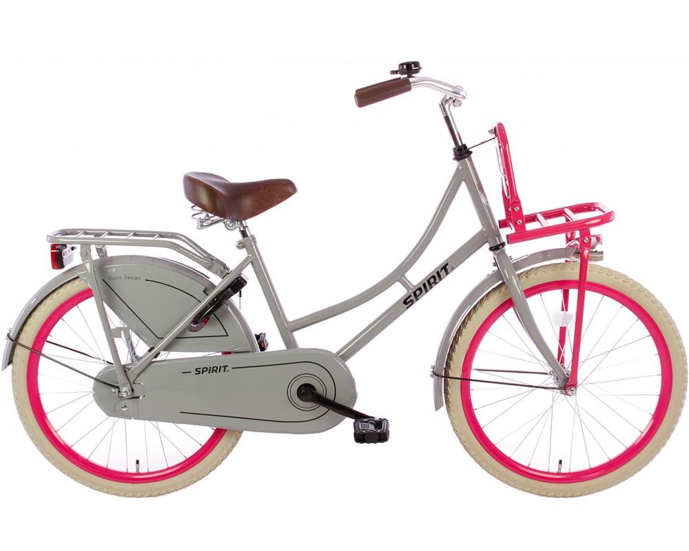 Spirit Omafiets Grijs-Roze 20 inch