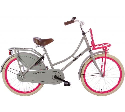 Spirit Omafiets Grijs-Roze 22 inch