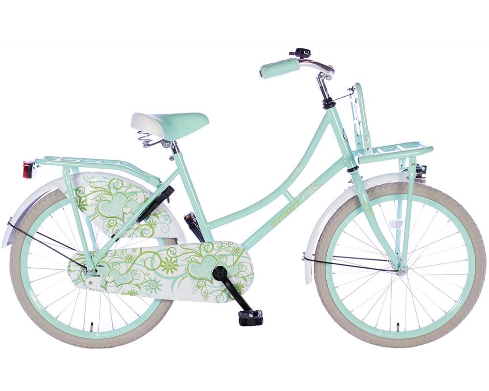 Spirit Omafiets Bloem Groen 22 inch