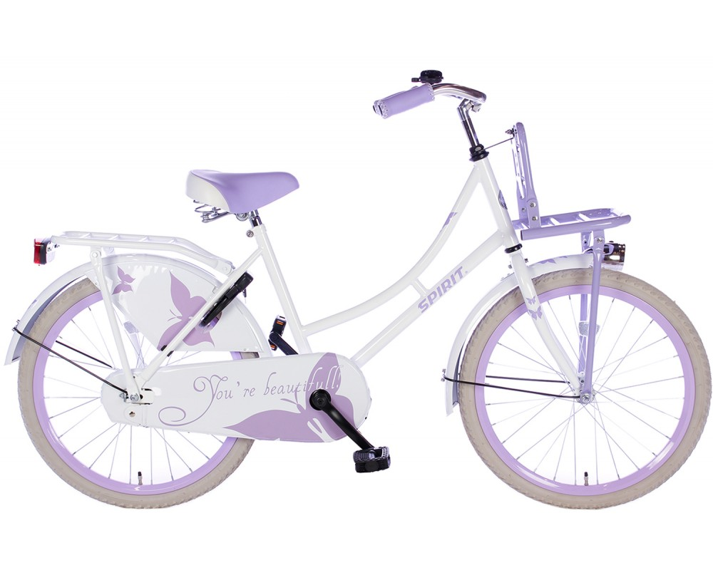 Spirit Omafiets Wit-Paars 20 inch