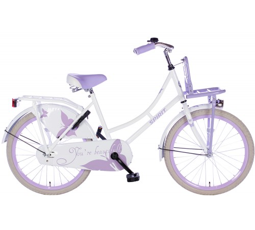 Spirit Omafiets Wit-Paars 22 inch
