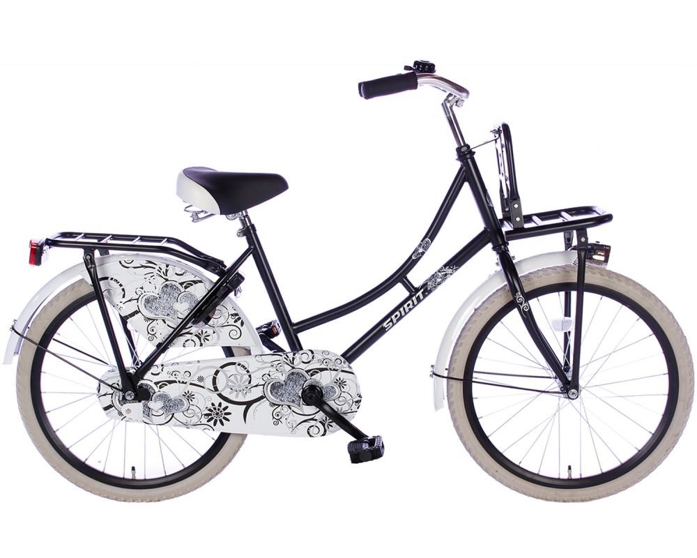 Spirit Omafiets Mat-Zwart 22 inch