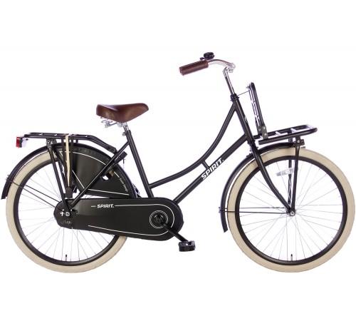 Spirit Omafiets Mat-Zwart 24 inch