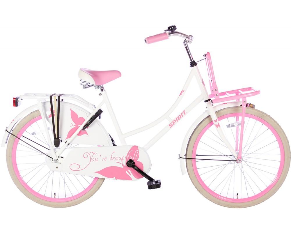Spirit Omafiets Wit-Roze 24 inch