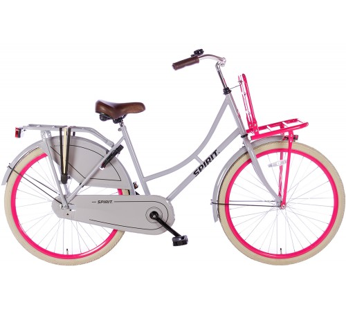 Spirit Omafiets Grijs-Roze 26 inch