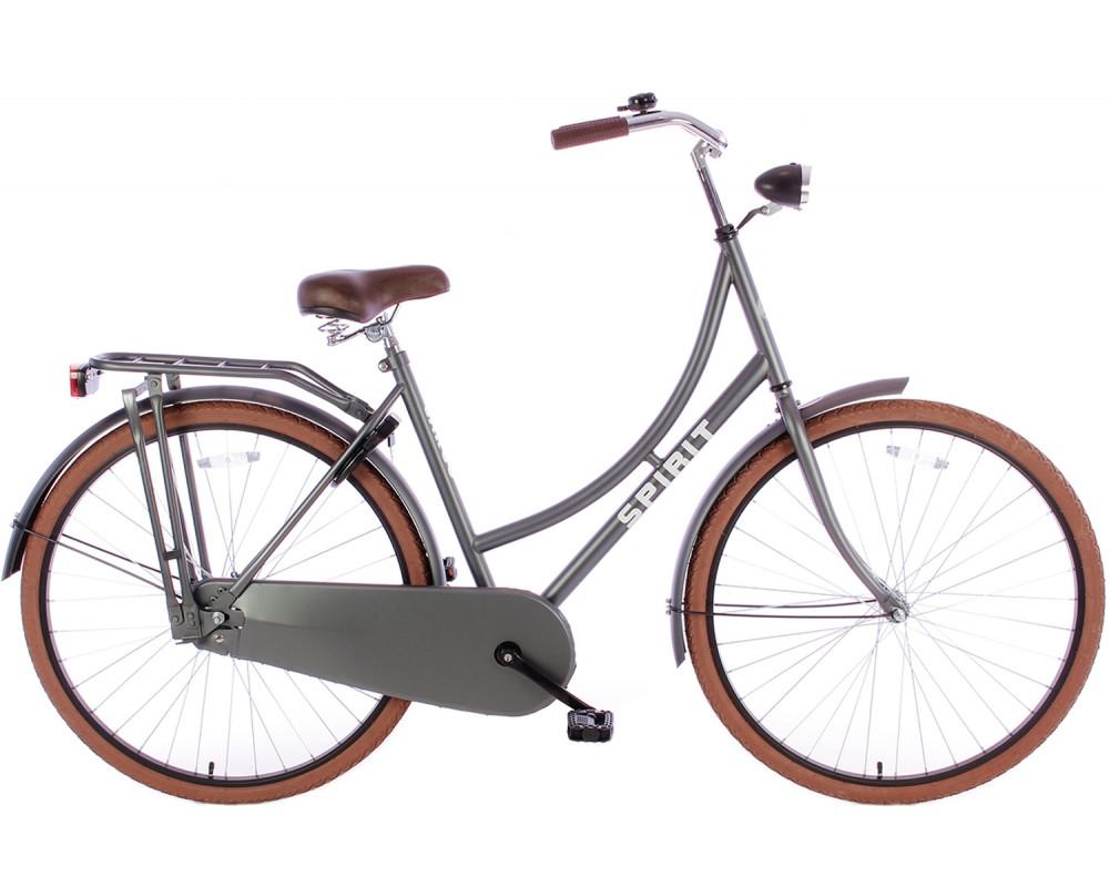 Spirit Omafiets Deluxe Mat-Grijs 28 inch