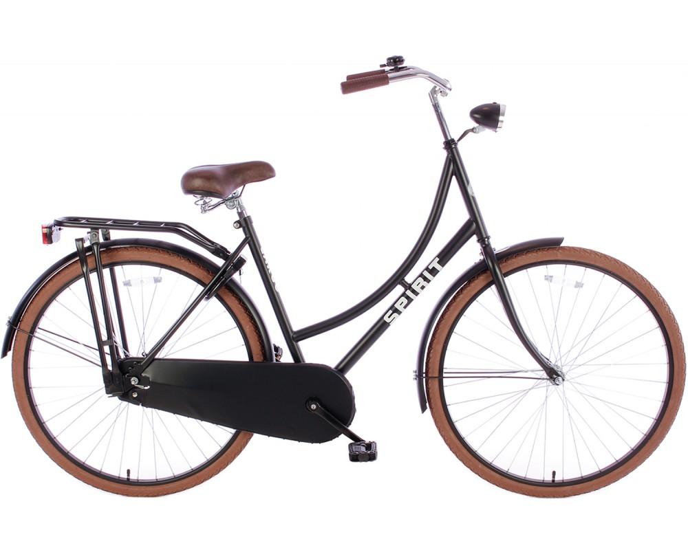 Spirit Omafiets Deluxe Mat-Zwart 28 inch