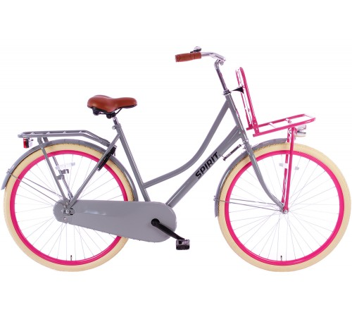Spirit Omafiets Plus Grijs-Roze 28 inch